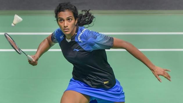 PV Sindhu in action against Tai Tzu Ying of Chinese Taipei at Asian Games.(PTI)
