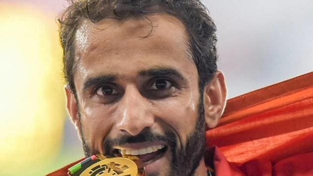 Men's 800m Gold medalist Manjit Singh was the star for India on Day 10 of Asian Games 2018.(PTI)