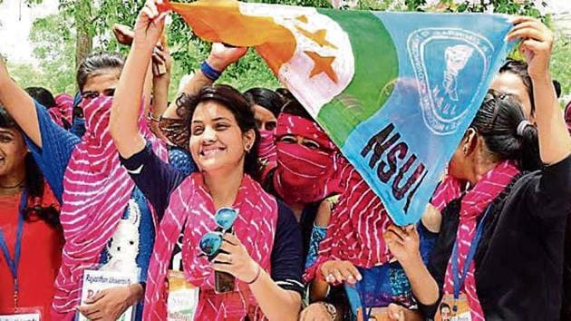 The DU students' election will be held on September 12.(HT File)