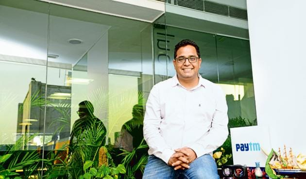 Vijay Shekhar Sharma, founder and CEO, Paytm. Well-known investor Warren Buffett's Berkshire Hathaway has invested in One97 Communications, the parent of Paytm.(Ramesh Pathania/Mint)