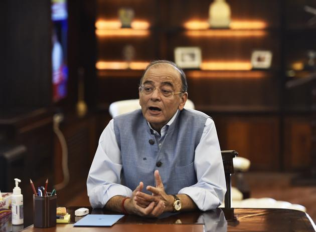 File photo of finance minister Arun Jaitley.(PTI photo)