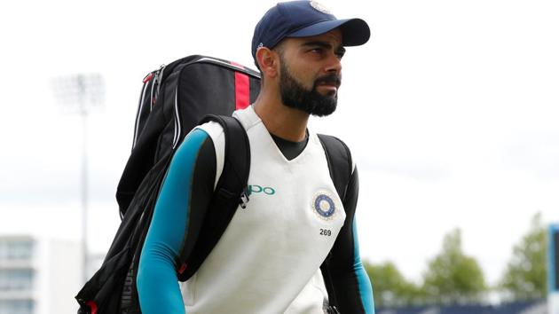 Virat Kohli at the nets ahead of the fourth Test match between India and England in Southampton.(REUTERS)