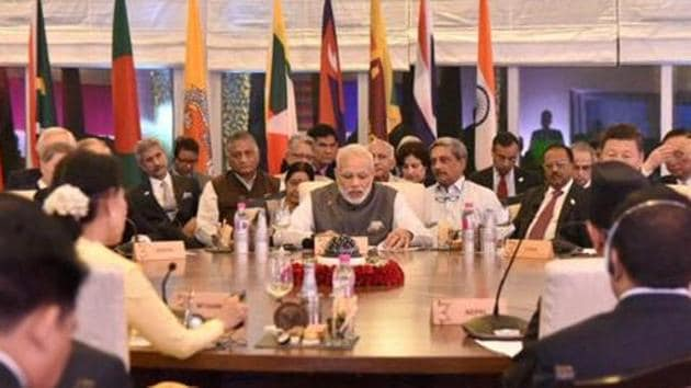 With the India-Pakistan bickering coming in way of a smooth functioning of the Saarc, groupings such as BIMSTEC can take forward the concept of regional cooperation in a different manner.(PTI File Photo)