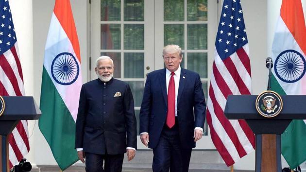 Prime Minister Narendra Modi meets US President Donald Trump at the White House, in Washington DC.(PTI File Photo)