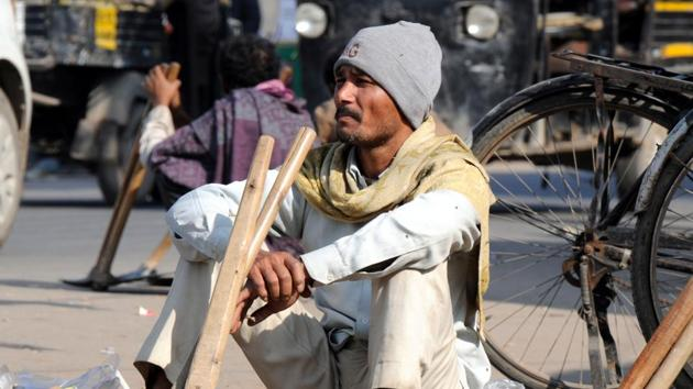 Migrant labourers flock to Gurugram in the hope of a better future.(Parveen Kumar / HT File Photo)