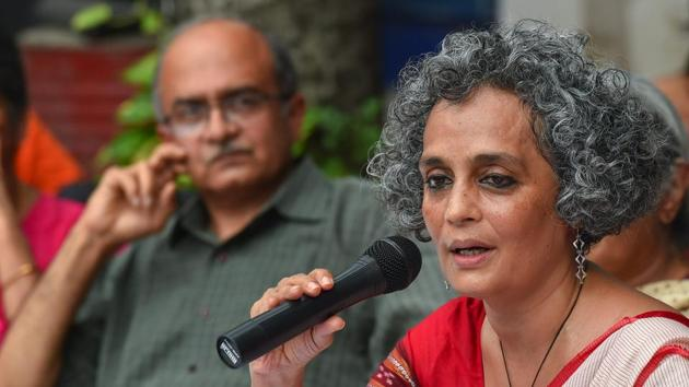 Arundhati Roy, Prashant Bhushan, Jignesh Mevani and other activists called for immediate end to 'political acts of vendetta'.(PTI)