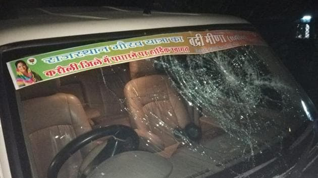 The SUV when ran over four people in Jaipur's Gandhinagar Railway Station on Thursday night.(Sourced)