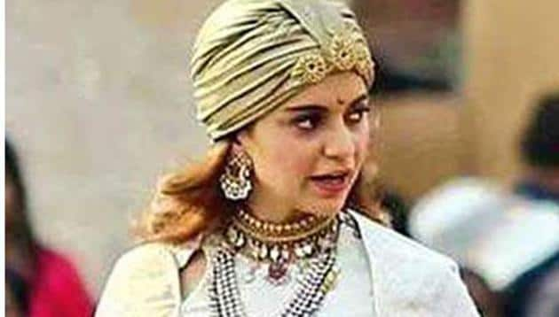 Kangana Ranaut photographed on the sets of Manikarnika.