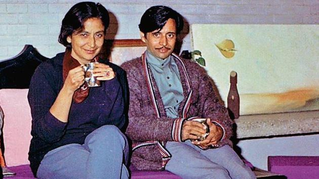 A rare photograph of Amrita Pritam and her partner, Imroz, in 1969.(Photo by Ravinder Ravi)