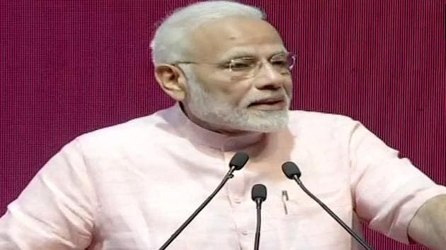Prime Minister Narendra Modi launched the India Post Payments Bank on Saturday.(ANI/Twitter)