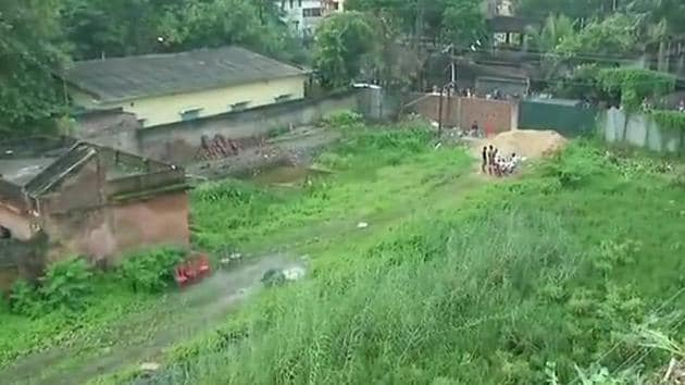 The remains of the babies were found in Haridebpur area in Kolkata's southern outskirts when workers were cleaning a plot of land a real estate company had recently purchased.(ANI Photo)