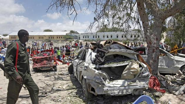 Police in Somalia say a suicide car bombing near the presidential palace has killed at least six people and wounded several others.(AP/ Representative Image)
