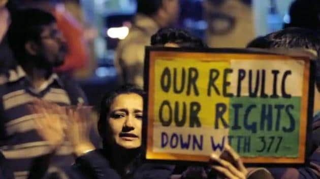 LGBT rights activists participate in a march in New Delhi.(HT File Photo)