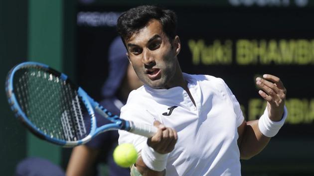 Yuki Bhambri's knee injury has flared up while playing at US Open.(AP)