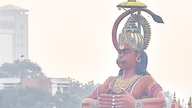 File photo of a Hanuman statue in New Delhi. (Image used for representational purpose)(Sanchit Khanna/HT File Photo)