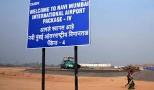 The airport site at Ulwe(Hindustan Times)