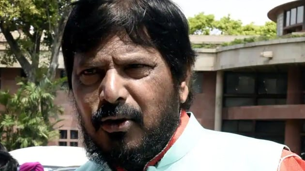 Ramdas Athawale on Thursday reiterated that he would file an appeal in the Supreme Court against the order of the Bombay high court banning use of term 'Dalit' in official works and also in media.(HT File Photo)