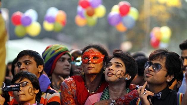Celebrations broke out across the country as LGBT groups brought out rallies, having anxiously waited for the verdict.(HT Photo)