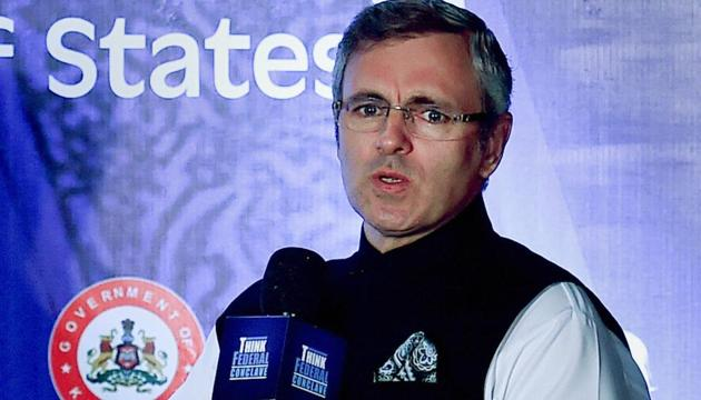 Omar Abdullah says SP Vaid should have been replaced only when a permanent arrangement for Jammu and Kashmir DGP had been worked out.(PTI File Photo)