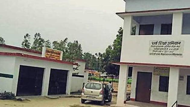 A government building in Baggha village of Khatima that will be demolished after the high court's order.(HT Photo)