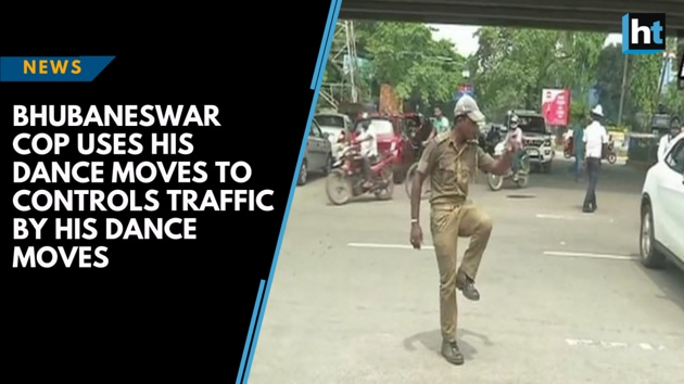 "Pratap Chandra Khandelwal, a 33-year-old home guard currently deployed as a traffic police personnel in Bhubaneswar (Odisha) uses his dance moves to control the traffic movements. Speaking to ANI Khandelwal said, ""'I convey my message through dance moves. Initially, people didn't obey rules, but with my style, people got attracted and started obeying rules.' Khandelwal can be seen striking dance poses in this video and enacting swift moves to control traffic at busy intersections in the city. Crowds often gather around to see his moves."