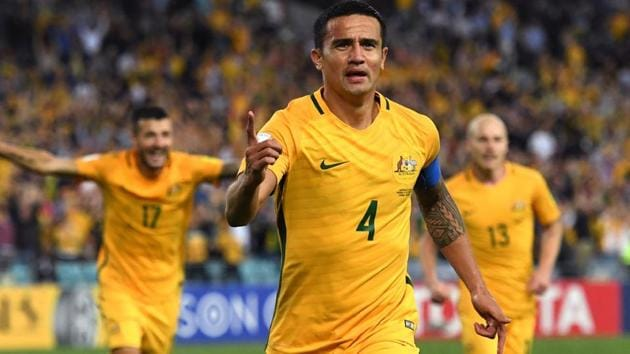 Tim Cahill has joined ISL team Jamshedpur FC and is currently training with the players in Spain.(AFP)