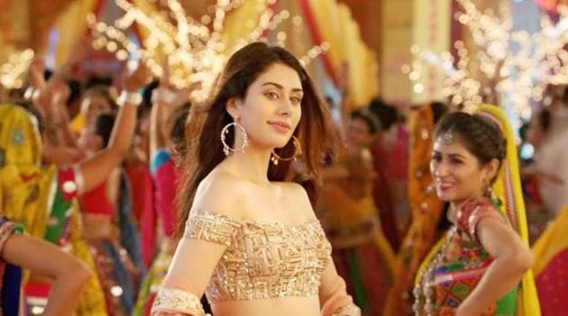 Warina Hussain in a still from Loveratri. The film is being protested against for allegedly hurting Hindu sentiments.