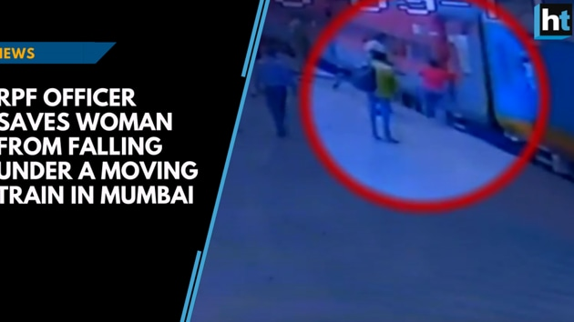 A Railway Protection Force (RPF) officer saved a woman from falling under a train in Mumbai, The woman was seen trying to board to board the train with her luggage when the train started to move. CCTV footage shows the woman falling and sliding down the platform. The officer on duty saved the woman by holding and pulling her with all his might. A similar incident took place last month where an RPF officer was quick to react and save a woman from getting crushed under a moving train.