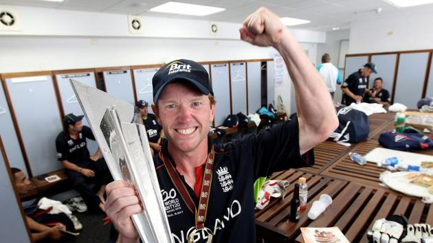 Paul Collingwood became the first England captain to win a trophy at a global tournament when he guided the side to the ICC World T20 in 2010.(Getty Images)