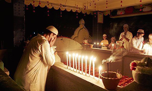 Praying at a dargah in Guwahati on Shab-e-baarat.(AP)