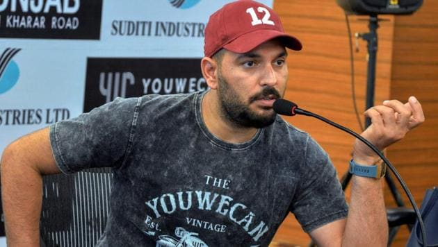 Yuvraj Singh posted a video of his training on social media.(PTI)