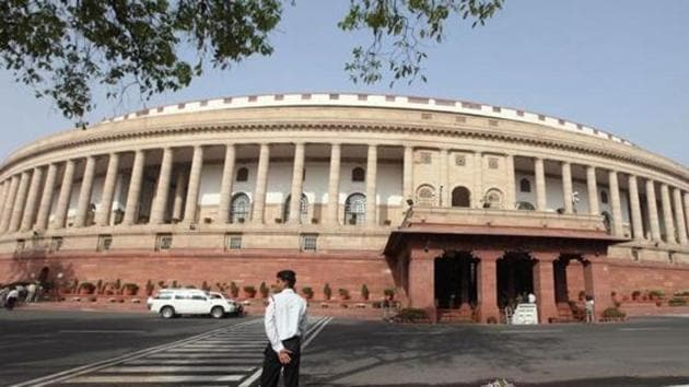 The Parliament building in New Delhi.(Bloomberg)