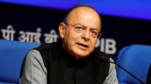 Finance minister Arun Jaitley attends a news conference in New Delhi.(Reuters File Photo)