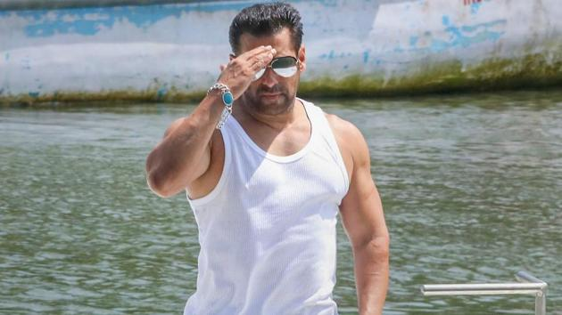 Bollywood actor Salman Khan during a promotional event for the upcoming edition of Big Boss at Nerul, Goa.(PTI)