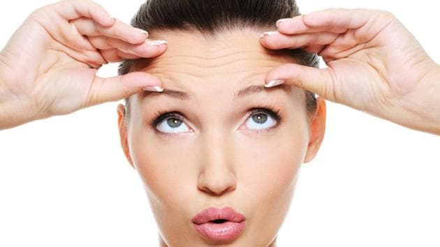 Squinting and highly animated facial expressions, such as raising your eyebrows and frowning, can also result in wrinkles.(Getty Images/iStockphoto)