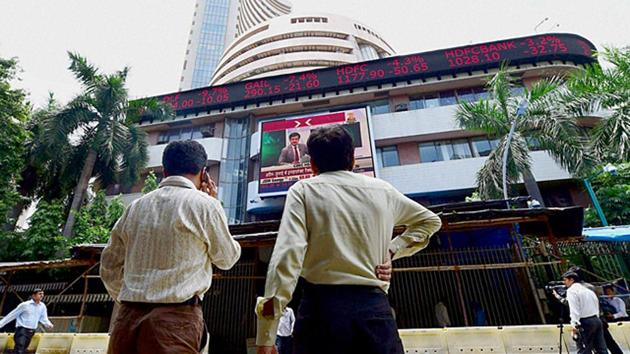The 30-share Sensex plunged 505.13 points or 1.33% to end at 37,585.51.(PTI File Photo)
