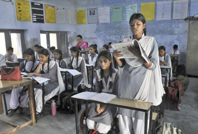 At some of the schools, principals merged the classes so that the remaining staff could teach the students.(Gurminder Singh/HT)