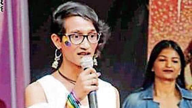 Anjali Siroya won this year's title of 'Rose Queen' at Matunga's Ramnarain Ruia College.(HT Photo)