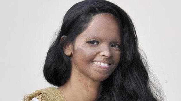 Acid attack survivor Laxmi Agarwal in Ludhiana.(HT File Photo)