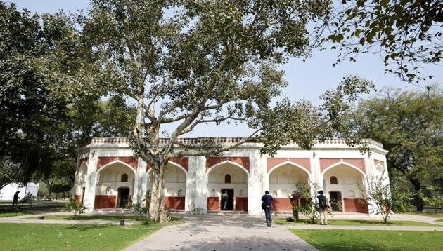 The 16th century heritage garden Sunder Nursery, adjacent to the UNESCO world heritage site has undergone renovation and will be open to the public.(HT Representative Photo)