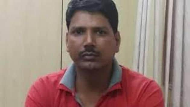 Preliminary investigations revealed that Achyutanand Mishra (pictured) shared crucial information about the armed forces and the movement of troops with the 'woman'. He also used to chat with her over WhatsApp.(HT Photo)