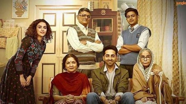 Badhaai Ho song Badhaaiyan Tenu shows the family's embarrassment as the middle-aged mother, played by Neena Gupta, gets pregnant.(Instagram)