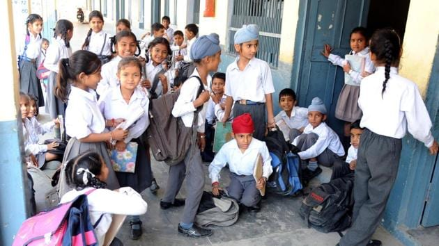 HT highlighted the lack of facilities at the school contradicting a full-page government advertisement published in the newspapers of Rajasthan on August 30, which was found to be peddling false information.(HT FILE PHOTO)