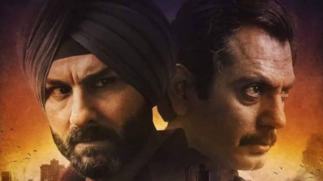 Nawazuddin Siddiqui and Saif Ali Khan in the poster for Netflix's Sacred Games.