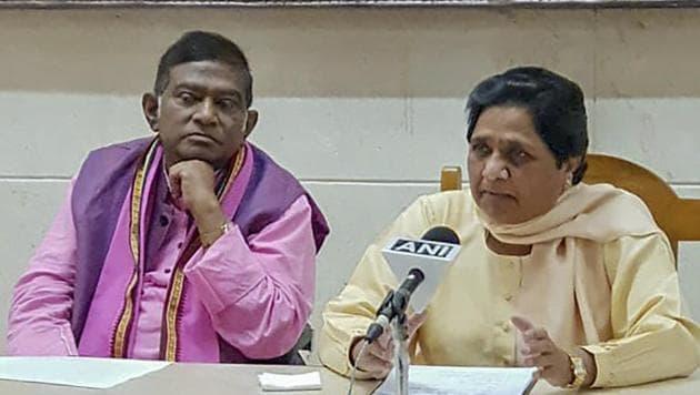 BSP supremo Mayawati and Janata Congress (Chhatisgarh) President Ajit Jogi announced their alliance for assembly polls in Chhatisgarh on Thursday, Sept 20, 2018. The BSP was in talks with the Congress in Chhattisgarh and Madhya Pradesh.(PTI)