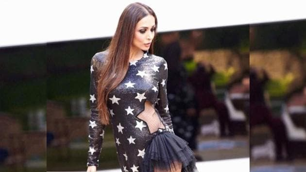 Malaika Arora's dress is all about playing mind games with her fashion fans. (Instagram)