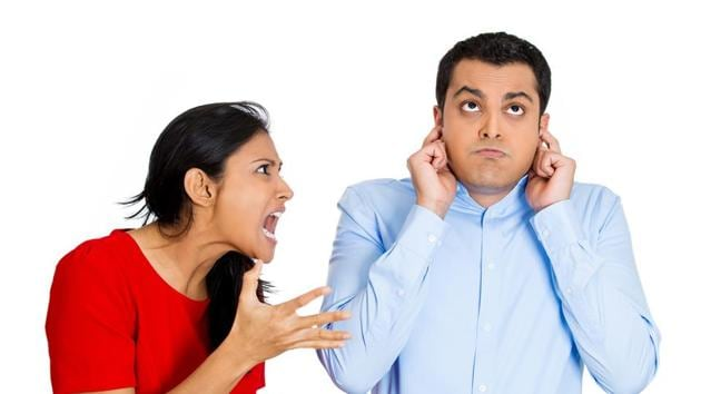Postponing discussions, snoring loudly at night and being insecure of their male friends are some things women do not like about their partners.(Shutterstock)