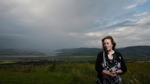 <p>Cancer Support Worker Betty Holmes poses in Donegal, Ireland. Speaking on the border post Brexit, Holmes said, &ldquo;A serious division of people who have...