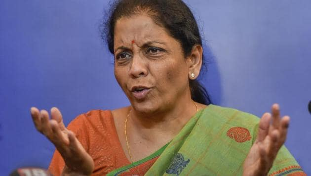Defence minister Nirmala Sitharaman addresses a press conference, in New Delhi.(AP Photo)