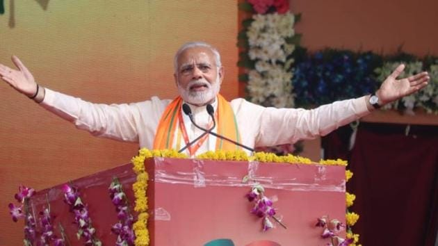 PM Narendra Modi addressed a rally of BJP workers in Bhopal, Madhya Pradesh, on September 25, 2018.(Twitter/ @BJP4India)